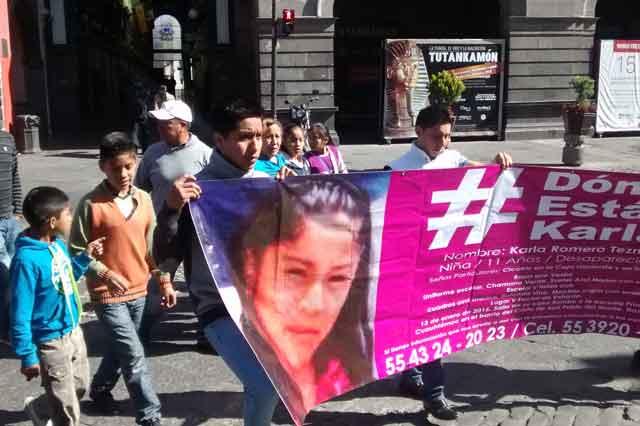 Niña desaparecida en Tlaxcala sería explotada en Puebla