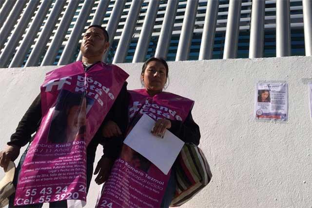 Padres de Karla harán en Puebla denuncia por delito de trata