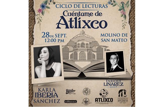 """Karla Iberia Sánchez cerrará ciclo de lecturas """"Cuéntame de Atlixco"""""""