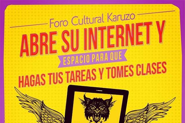 Karuzo abre sus puertas y da internet gratis a estudiantes