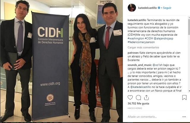 Kate vigila en la CIDH avances de su denuncia contra el gobierno de EPN