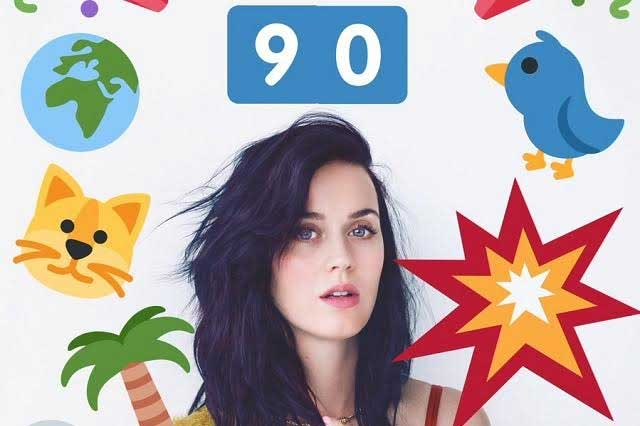 Katy Perry ya tiene 90 millones de seguidores en Twitter