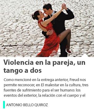 Violencia en la pareja, un tango a dos
