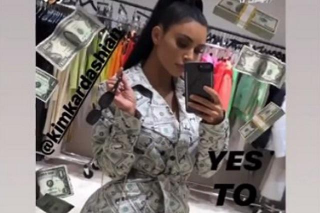Kim Kardashian sorprende con millonario atuendo