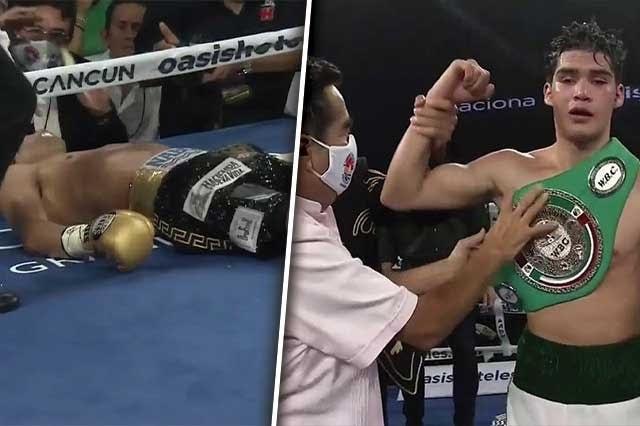 Mexicano Moisés Fuentes en estado crítico tras terrible KO
