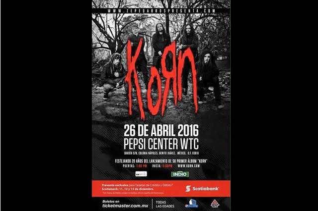 Korn regresa a México en abril de 2016