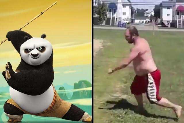 Kung Fu Panda humano: Hombre con sobrepeso causa asombro en redes