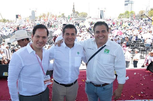 Barbosa engrandecerá a Puebla, subraya líder nacional del Verde