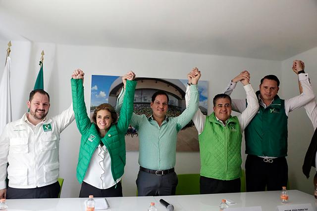 Kuri inicia campaña del Verde en Puebla, Cholula y Tehuacán