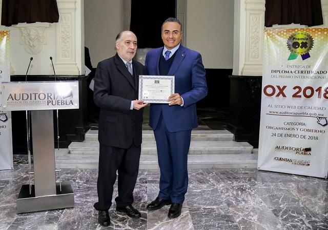 Recibe la ASE premio internacional OX 2018 por su página de Internet