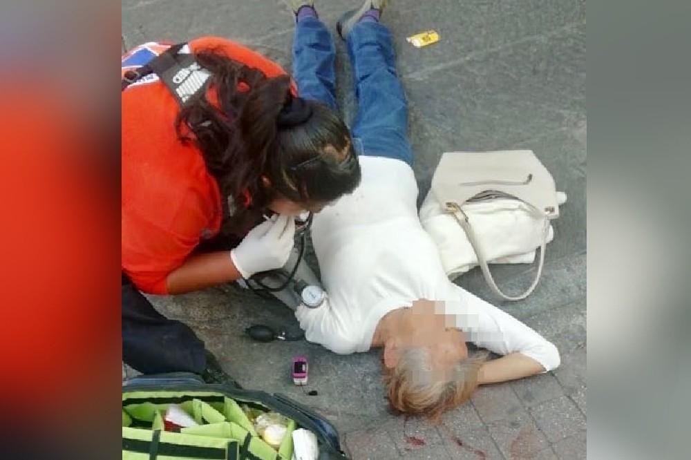Sujeto hiere a mujer cuando huía de un robo en el Centro de Puebla