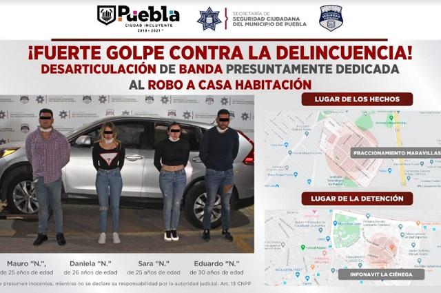 Al Cereso, ladrones de CDMX capturados en Puebla