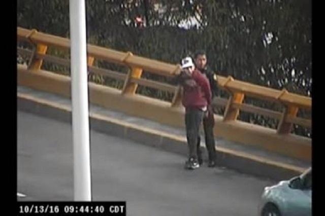 Graban captura de 2 ladrones de vehículos en el Circuito Interior