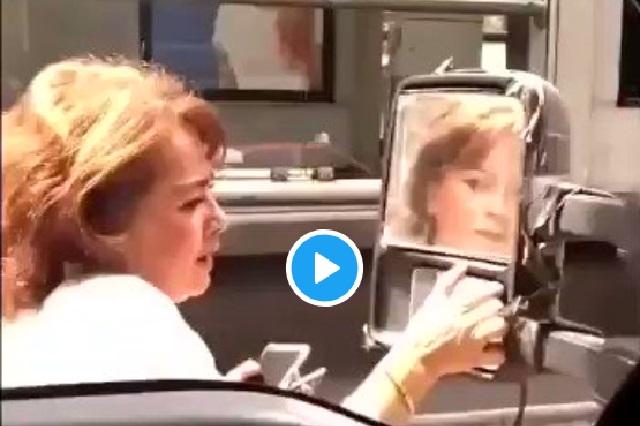 Lady Martillo: Golpean auto de mujer y esta fue su venganza
