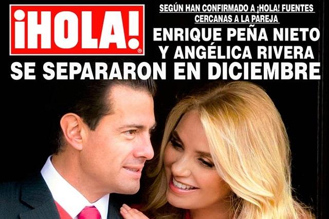 Peña Nieto y la Gaviota se separaron en diciembre: Hola