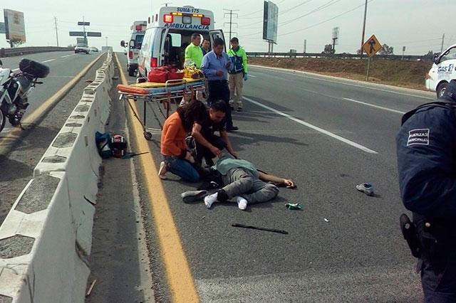 Muere motociclista que iba con exceso de velocidad por el Periférico
