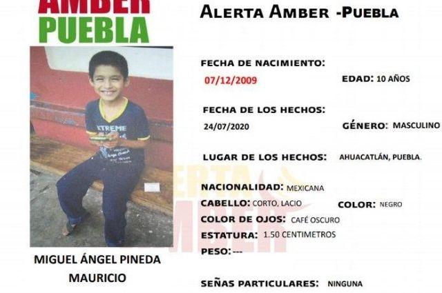 Lanzan Alerta Amber por Miguel Ángel de 10 años