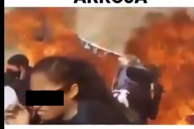 Laura Zapata muestra rostro de mujer que lanzó bomba molotov en marcha