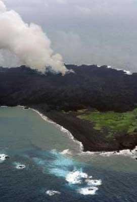 Una isla volcánica de Japón podría hundirse y provocar un tsunami