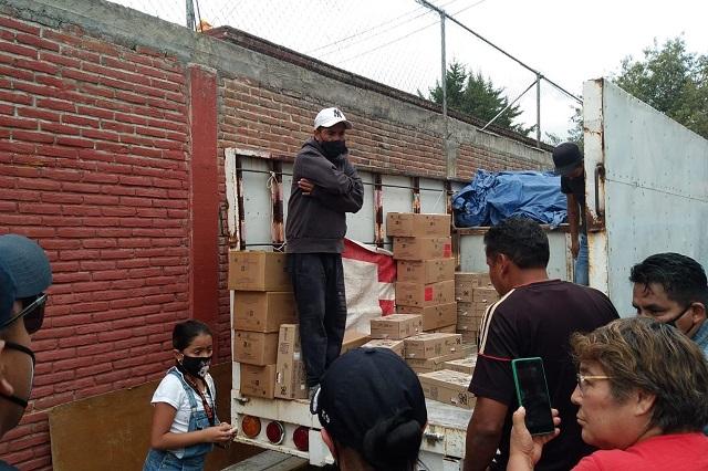Niegan Eduardo Rivera y gobierno reparto de leche