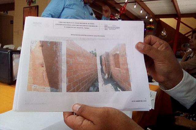 Acusan reconstrucción defectuosa y lenta tras sismo