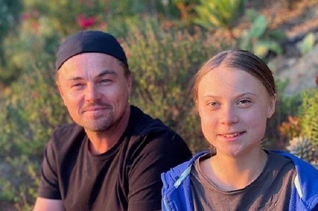 Leo DiCaprio brinda su apoyo a la joven activista Greta Thunberg