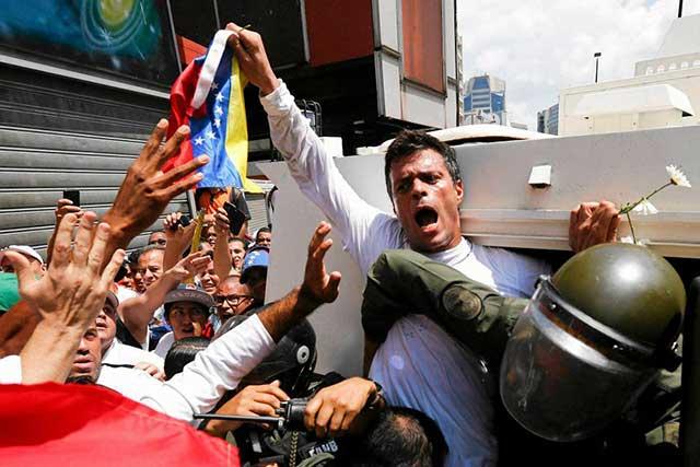 Venezuela detiene otra vez al líder opositor Leopoldo López