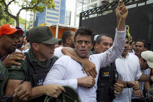 Venezuela afirma que capturó a Leopoldo López porque planeaba fugarse