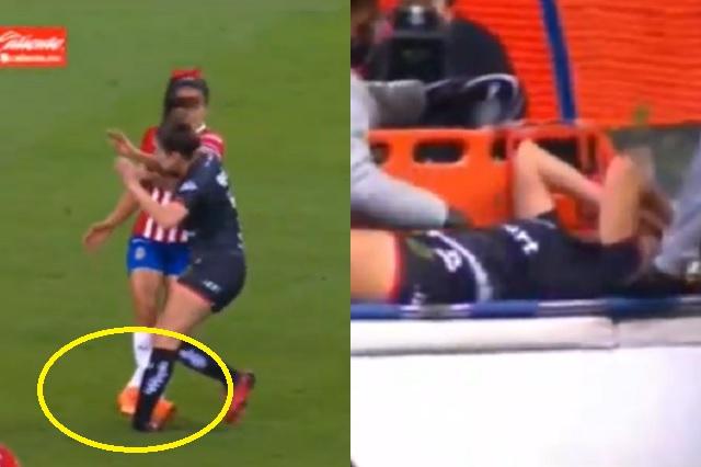 Cindy Caro sufre terrible lesión en inicio de la Liga MX Femenil