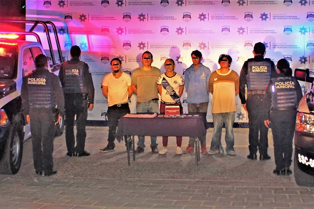 Detuvo policía capitalina a 5 personas por robo y lesiones