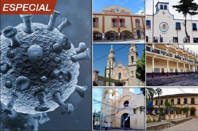 Quien se contagia de Covid muere en 7 municipios de Puebla