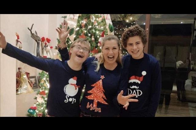Foto: Leticia Calderón disfruta con sus hijos las fiestas decembrinas