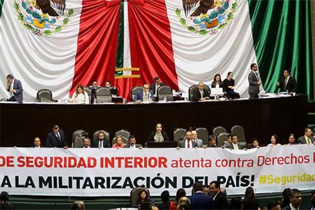 Diputados panistas evaden responsabilidad en Ley de Seguridad Interior
