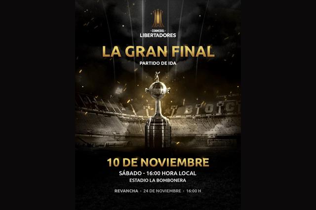Se confirman días y horarios para la final de la Libertadores