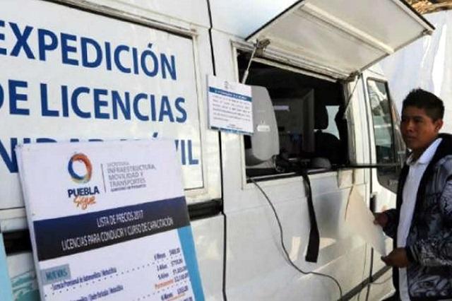 Falla cita electrónica para tramitar licencia de conductor en Puebla