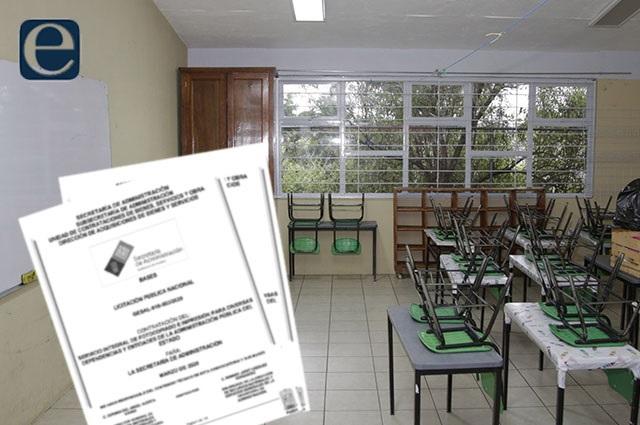 Puebla licita obras para 42 planteles educativos