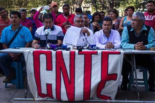 CNTE denunciará en la CNDH que los amenazaron durante el desalojo