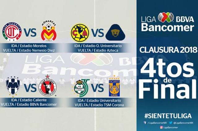 Listas las finales de la Liga MX; destaca Pumas vs América