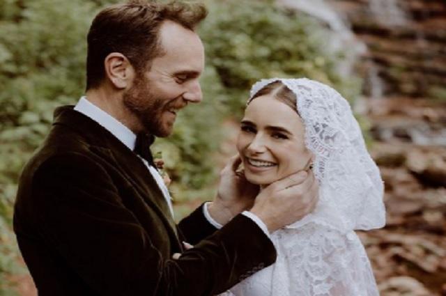 ¡Lily Collins se casó!, estas son las fotos de su boda