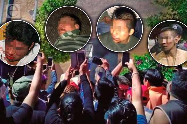 Se salvaron del linchamiento 22 sujetos en Puebla en 2020 y 2021