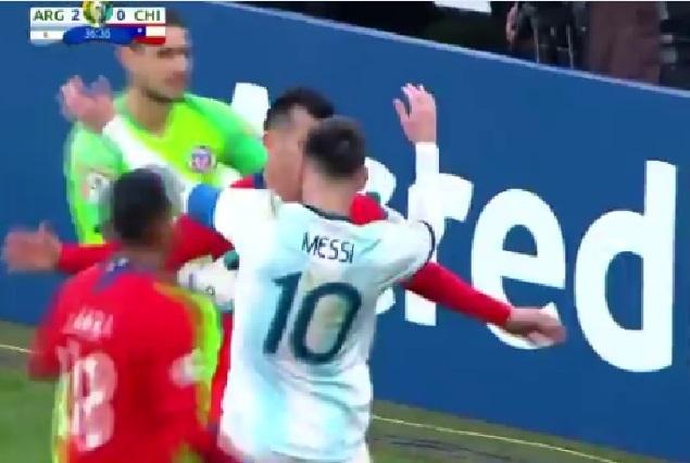 Video: Expulsan a Lionel Messi en la Copa América