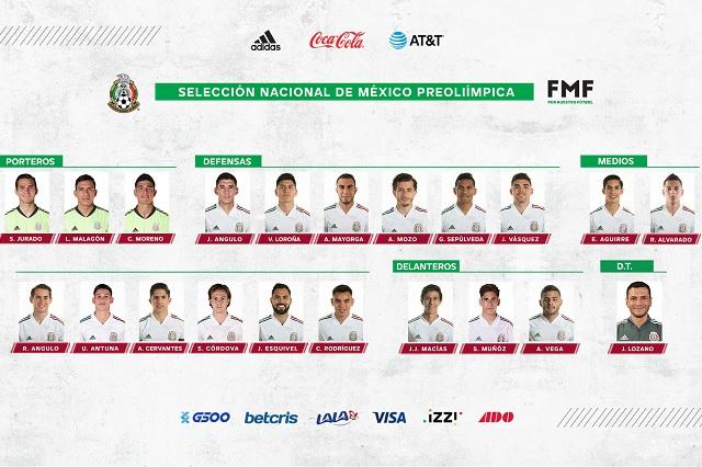 Presentan lista definitiva de convocados al Preolímpico de Concacaf