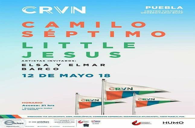 Camilo Séptimo y Little Jesus llegan a Puebla el 12 de mayo