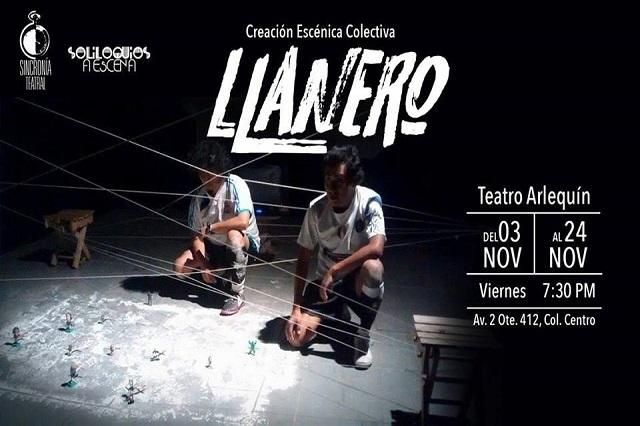 Sincronía Teatral anuncia el estreno de Llanero en Puebla