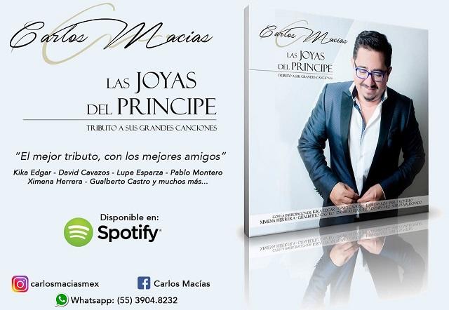"""Llega a Puebla Carlos Macías con sus éxitos y la nostalgia por """"El Príncipe"""""""