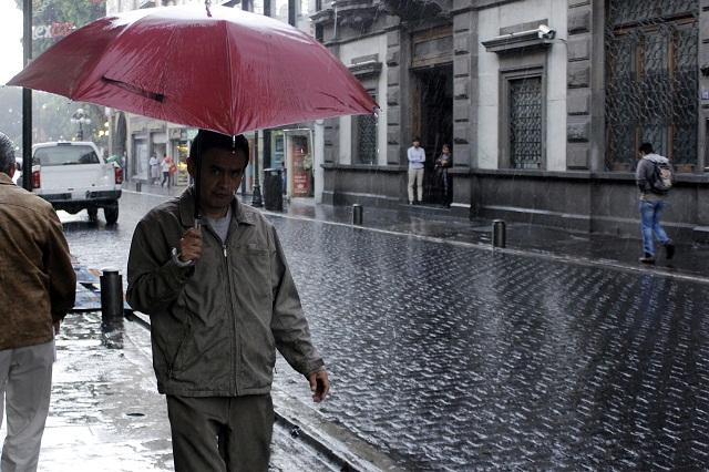 Más lluvia que la habitual en fin de año, pronostican para Puebla