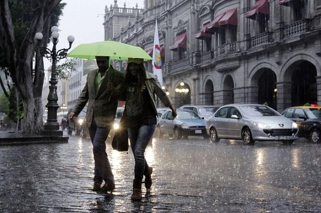 Pronostican lluvias intensas para Puebla esta noche