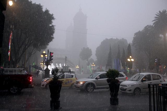 Prevén lluvias muy fuertes para Puebla este lunes
