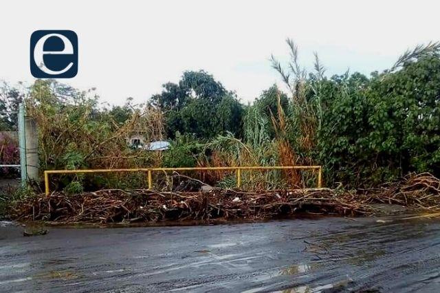 Lluvias en valle de Atlixco desbordan ríos y acequias