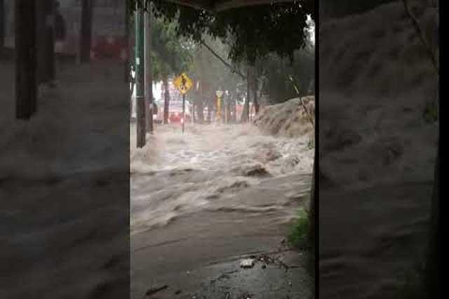 Graban inundaciones en la zona sur de la Ciudad de México